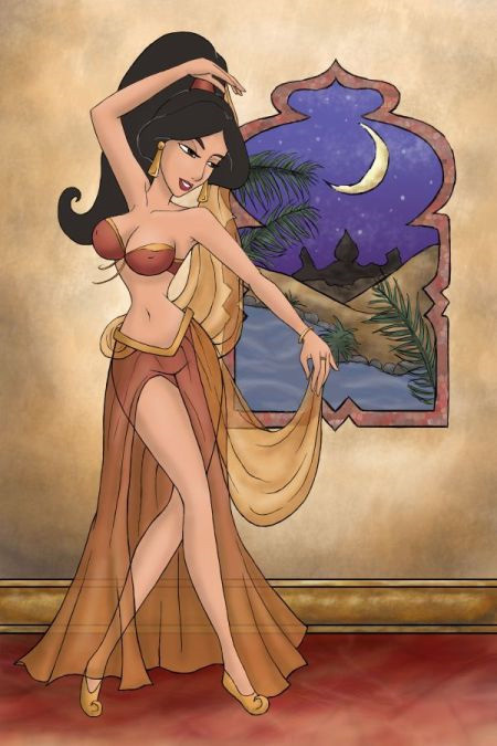 Sexy Jasmine in Gold - disney-princess Photo