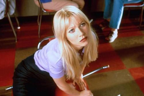 Gwyneth Paltrow wallpaper possibly with a cleaver, a spatula, and a portrait titled Shallow Hal