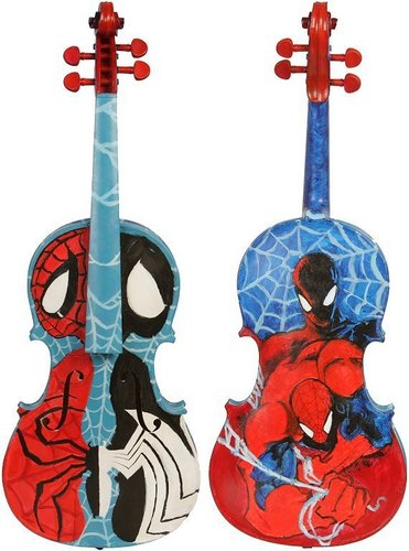 Music wallpaper entitled Spiderman violin