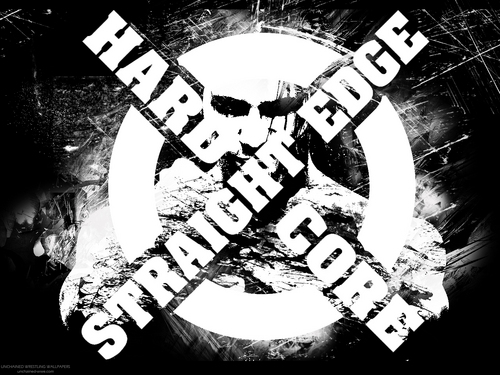 the straight edge and the scene Adj (music) referring to the hardcore scene, especially of the straight edge variety (symbolized by the x) n (music) the hardcore scene,  hxc kid 1: hardcore is about bieng straight edge and dancing in the pit hxc kid 2: hardcore is getting wasted and hurting people on purpose in the pit.