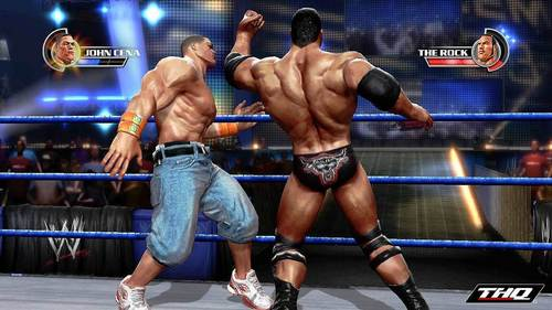 WWE 바탕화면 entitled The Rock vs John Cena