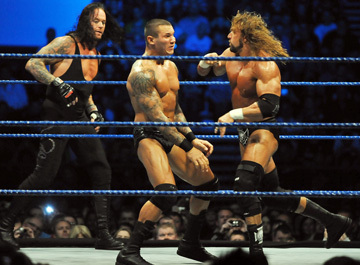 WWE wallpaper called Undertaker, HHH & Randy Orton