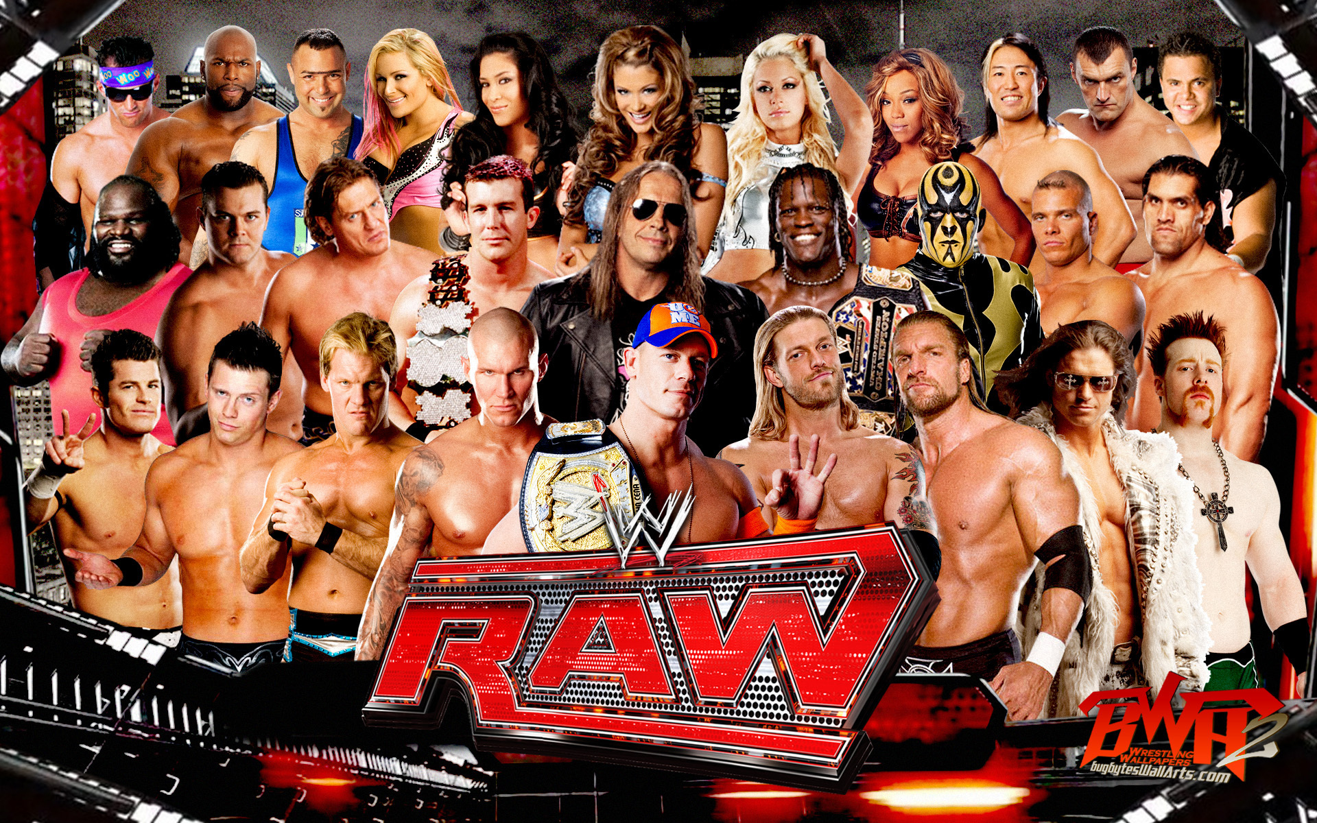 Wwe raw wwe wallpaper 16933714 fanpop - Monday night raw images ...