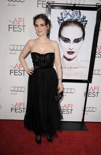 "Winona Ryder wallpaper containing a dinner dress titled Winona @ AFI FEST 2010 - ""Black Swan"" Closing Night Gala"