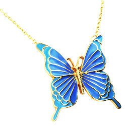 blue mariposa collar