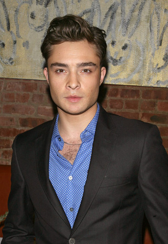 ed westwick in Vogue Coctail Party