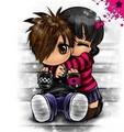 emo love<33 - emo-couples photo