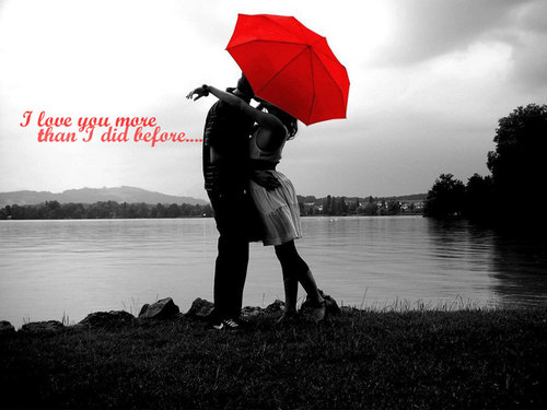 Love wallpaper with a parasol called love