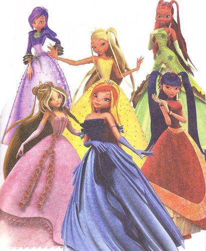 winx платье, бальное платье