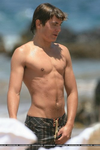 Zac Efron wallpaper probably with a hunk, swimming trunks, and a six pack titled zac efron