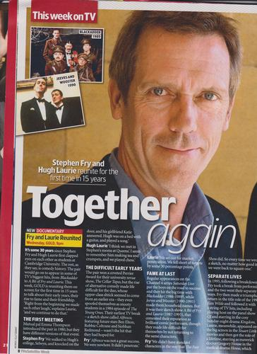 From TV & satellite 20 - 26 Nov Fry and Laurie Reunite
