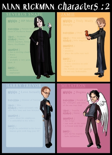 Alan Rickman-characters