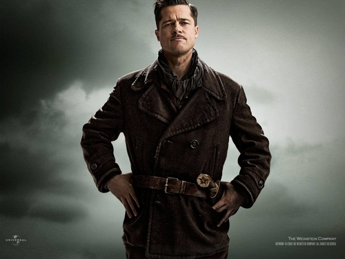 Inglourious Basterds fond d'écran probably with a trench manteau and a pois, pea veste entitled Aldo Raine