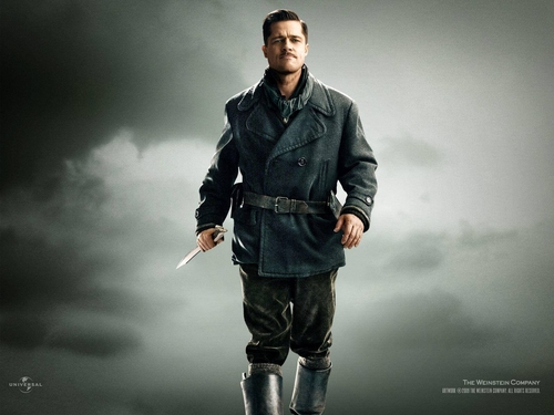 Inglourious Basterds fond d'écran possibly with a well dressed person, an overgarment, and a box manteau entitled Aldo Raine