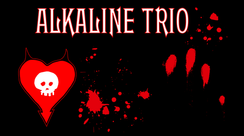 Alkaline Trio fondo de pantalla called Alkaline Trio In Blood