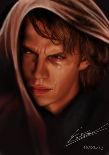 Anakin Skywalker Wallpaper Probably With A Hood Fedora And Portrait Called