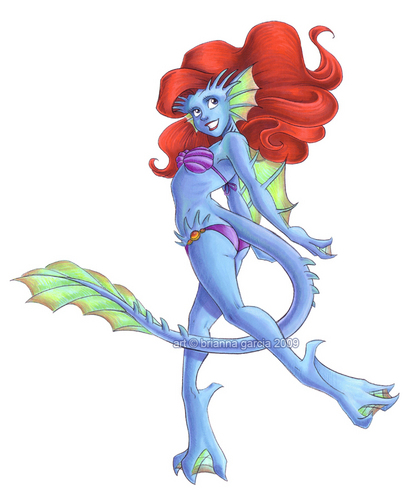 Ariel as a Gargoyle