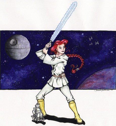 Ariel as a Jedi
