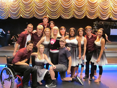 BTS Glee cast photo ep. 2x09