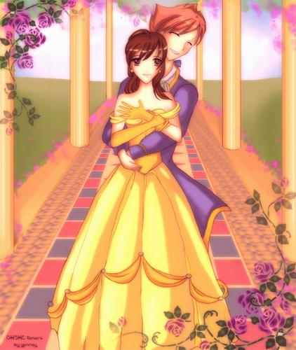 Beauty and the Beast wallpaper entitled Beauty And The Beast, OHSHC Style