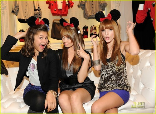 Bella Thorne,Zendaya Coleman,And Debby Ryan At The Minnie topo, mouse Muse Collection Launch At Forever 21