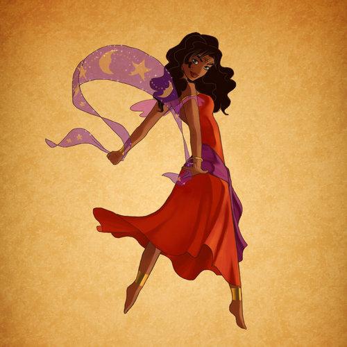 Bendy Esmeralda Dancing with a Scarf