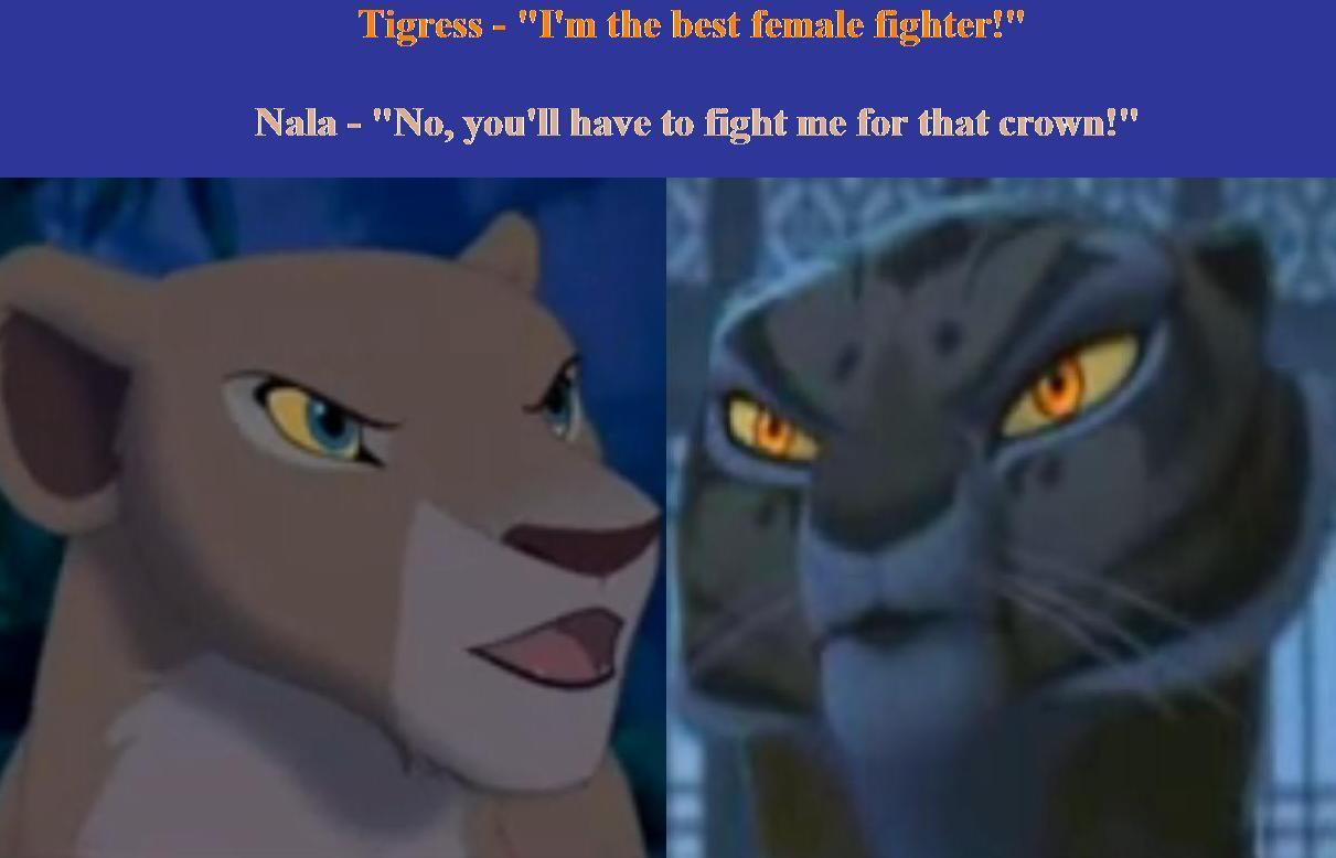Nala Vs Tigress Images Cat Fight Talk Hd Wallpaper And Background