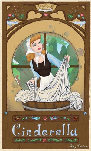 Cinderella in Art Nouveau