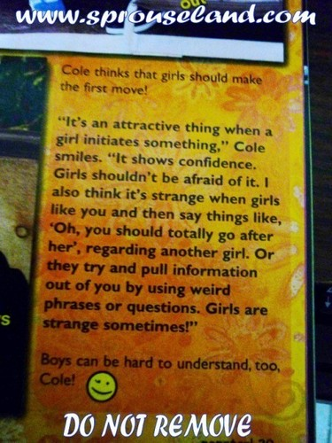 Cole and Dylan Want Girls To Make The 1st Move!!