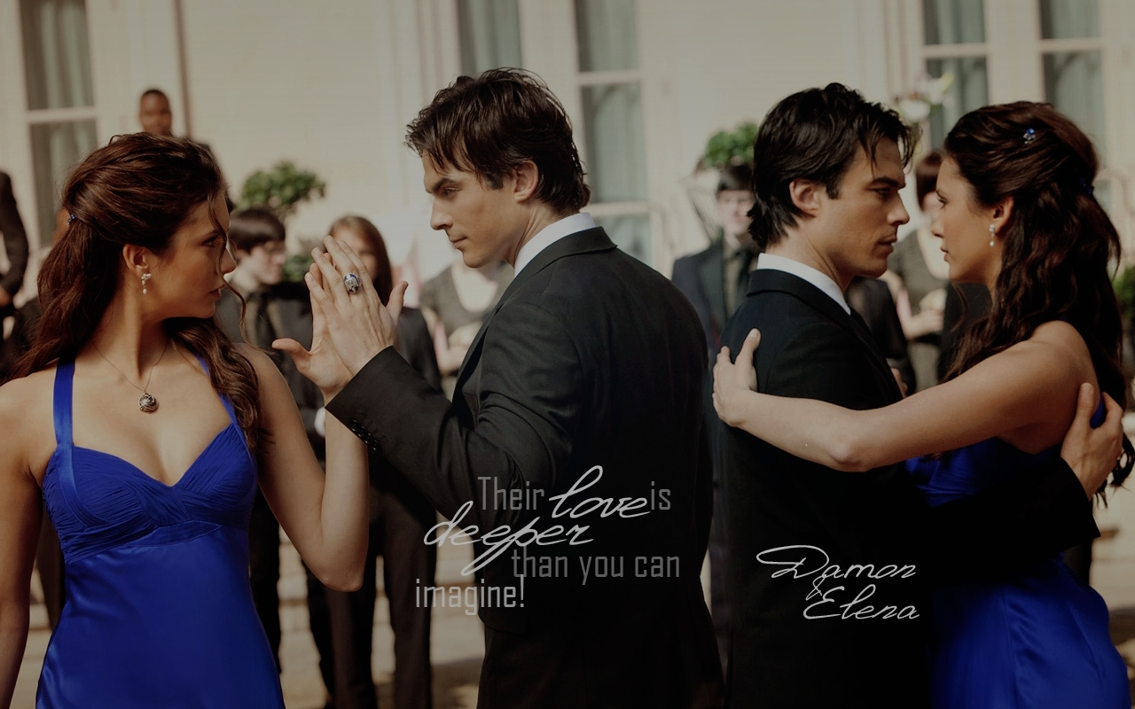 Damon amp elena damon amp elena wallpaper 17060067 fanpop