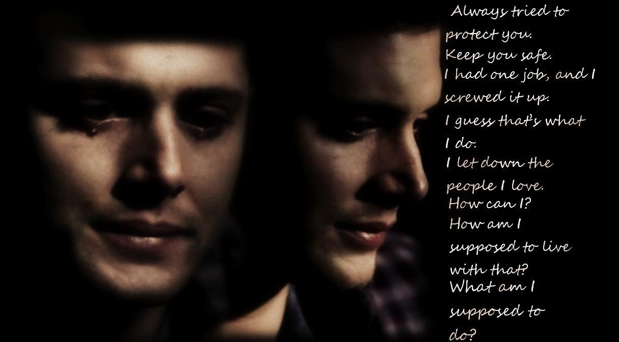 Sad Quotes From Dean Supernatural. QuotesGram