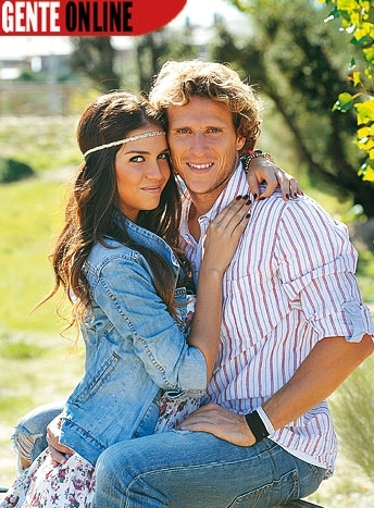 Diego Forlan with girlfriend Zaira Nara