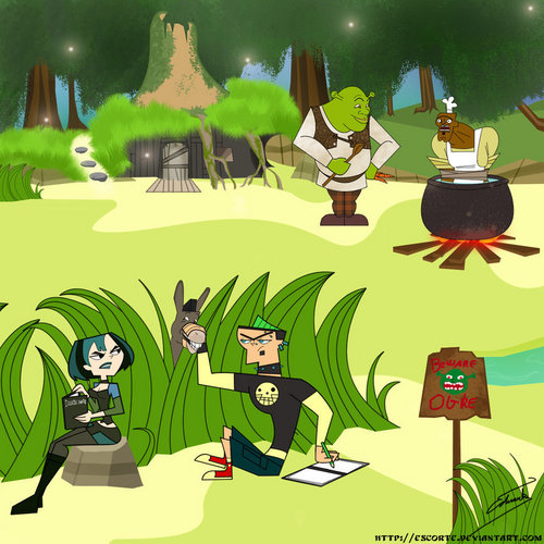 TDI's GwenxDuncan wallpaper with anime called Duncan_and_Gwen