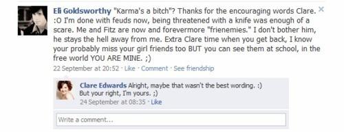 Eli & Clare facebook, lol