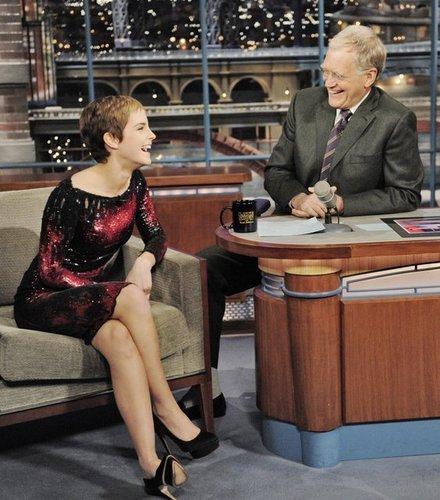 Emma at David Letterman toon