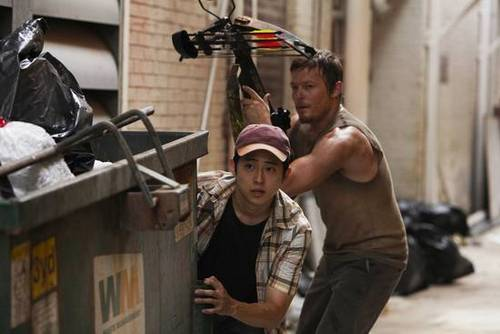 The Walking Dead wallpaper probably with a pick, a street, and a warehouse called Episode 1.04 - Vatos - Promo Photos