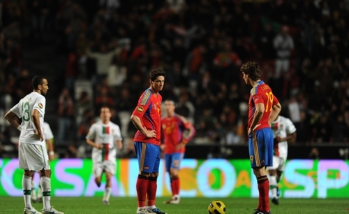 Fernnado Llorente & Fernando Torres Portugal 4-0 Spain (friendly) 17.11.2010