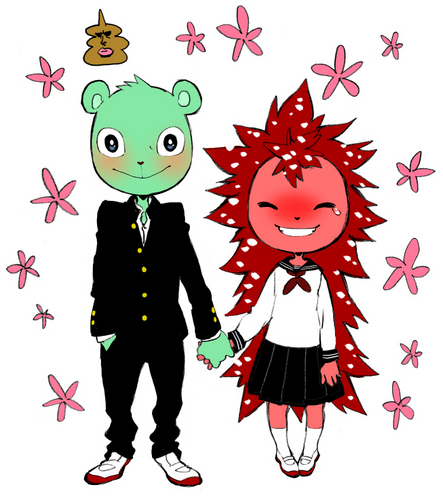 Happy Tree Friends wallpaper with anime called Flippy and Flaky
