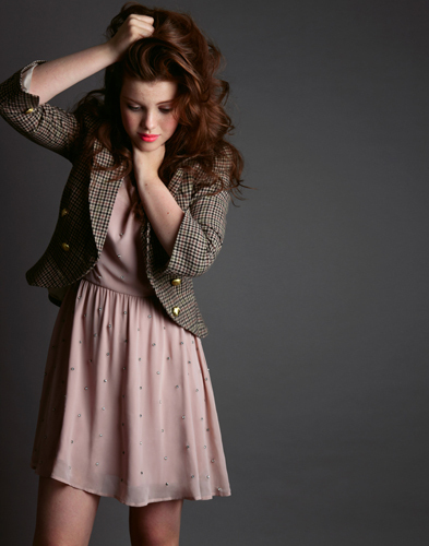 Georgie Henley wallpaper possibly with a cocktail dress entitled Georgie
