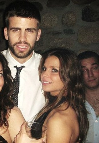 Gerard Piqué fond d'écran with a portrait titled Gerard Piqué and girlfriend