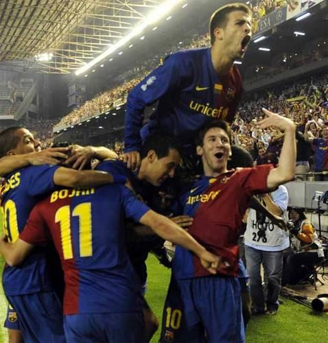 Gerard Piqué celebrate