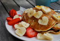 cuore Shaped banana pancakes, pancake