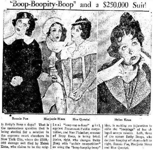 Helen Kane Vs Betty Boop