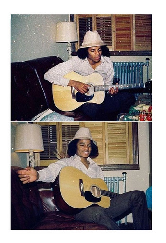 Michael Jackson wallpaper with an acoustic guitar, a guitar, and a guitarist called I love you my angel...