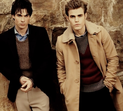 Damon and Stefan Salvatore 壁紙 with a business suit entitled Ian and Paul