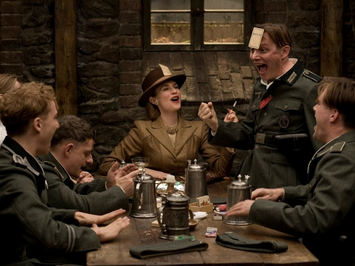 Inglourious Basterds wolpeyper containing a green beret, a business suit, and fatigues entitled Inglourious Basterds