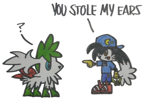Klonoa and Shaymin Sky Forme