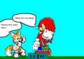 Knuckles, Tails, & legos - sonic-guys photo