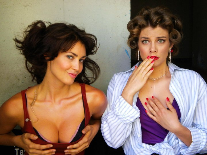 Lauren Cohan and Tanit Phoenix