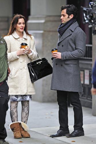 Leighton & Penn on set